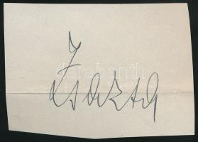 Zsazsa, Fedák Sári teljes nevén: Fedák Sarolta Klára Mária (1879-1955) magyar színművésznő. Aláírás kivágáson.