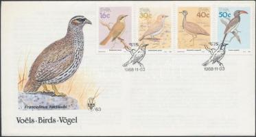Birds set on FDC Madarak sor FDC