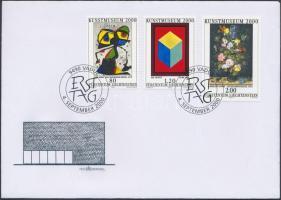 Art museum set on FDC, Művészeti múzeum sor FDC
