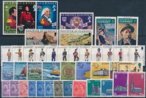 1958-1974 42 db bélyeg, közte teljes sorok, változatok + 2 db bélyegfüzetlap