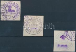 1913 Hivatalos bélyeg sor 3 értéke Mi 18, 20, 21