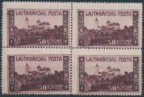 Nyugat-Magyarország VII. 1921 Lajtabánság 50K négyestömb, Bodor vizsgálójellel (7.000)