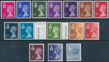 Észak Írország 1971-1978 II. Erzsébet királynő 15 db bélyeg, közte teljes sorok