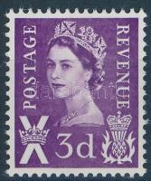 Skócia 1963 II. Erzsébet királynő foszforcsíkos bélyeg Mi 1 yba
