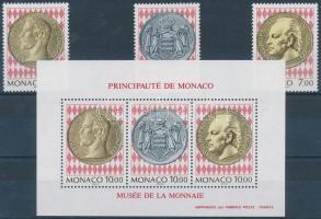1994 Bélyeg- és érmemúzeum sor Mi 2188-2190 + blokk Mi 64