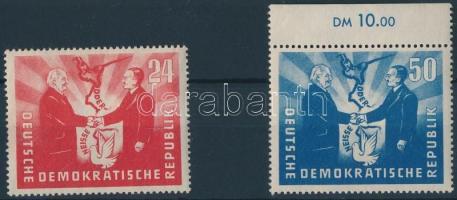 1951 Német-lengyel barátság sor Mi 284-285