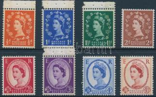 1958 II. Erzsébet királynő 8 érték Mi 318-325 y