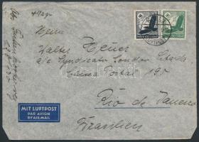 1938 Légi levél Brazíliába