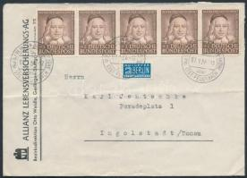 1954 5 x Mi 173 levélen / on cover to Ingolstadt