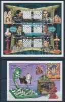 1999 Sakkjátékosok kisívsor Mi 1628-1645 + blokk Mi 116 (4 stecklapon)