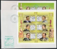 1999 Sakkjátékosok kisívsor Mi 1628-1645 + blokk Mi 116 4 FDC