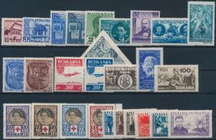 1939-1945 27 stamps with sets, 1939-1945 27 db bélyeg, közte teljes sorok, ívszéli értékek és 1 db pár
