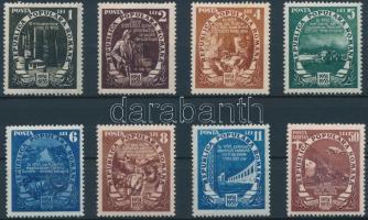 Five-year plan 8 stamps, Ötéves terv 8 érték