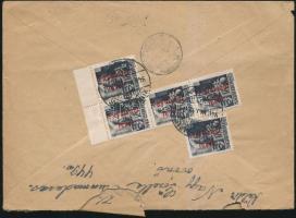 1946 (15.díjszabás) Távolsági levél Betűs III. 5xTávlisági levél bérmentesítéssel