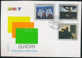 1993 Europa CEPT: Művészet sor FDC-n Mi 240-242