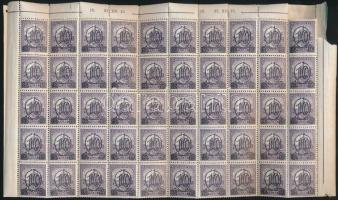 1931 Kisegítő 503B hajtott százas ív / Mi 473Ax folded sheet of 100 (pici ívszél hiány / small corner margin missing) (300.000)