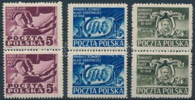 1948 A szocialista párt kongresszusa sor párokban Mi 508-510