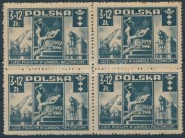 1946 Lengyel posta 4-es tömb Mi 444
