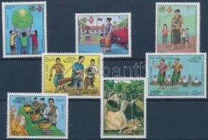 1994-1995 A család nemzetközi éve, WTO 2 klf sor Mi 1424-1426 + 1438-1441