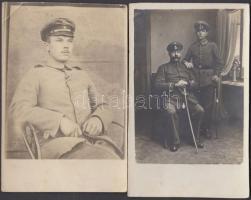 1914-1918 Német katonai fotólapok az első világháborúból, műtermi és csoportképek, 6 db, 14x9 cm / 1914-1918 6 German WWI-era military photos, 14x9 cm