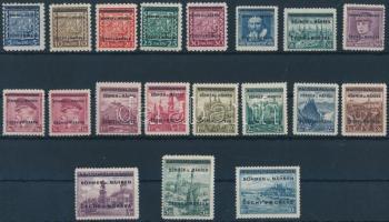 Böhmen und Mähren 1939 Felülnyomott sor Mi 1-19