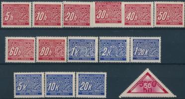 Böhmen und Mähren 1939 Portó sor + önálló érték Mi 1-14 + 15