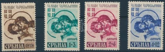 Szerbia 1941 Mi 54-57 II (Mi 54 II falcos)