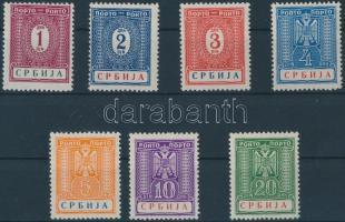 Szerbia 1942 Portó sor Mi 9-15