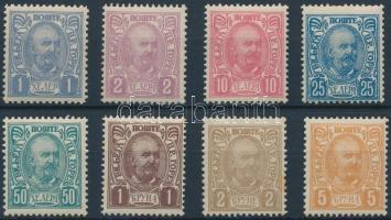 1902 Forgalmi sor Mi 41-49 (Mi 43 hiányzik)
