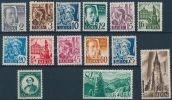Baden 1947+1949 Mi 1-13 + 53