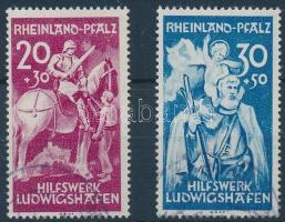 Rheinland 1948 Ludwigshafen segélyszervezet sor Mi 30-31 II