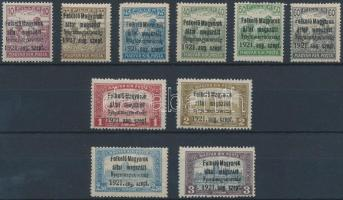 Nyugat-Magyarország I. 1921 Teljes sor (38.450) / Mi 1-10 Signed: Bodor