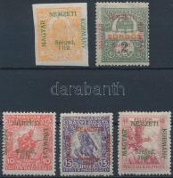 Szeged 1919 Hírlap, Sürgős és 3 klf Hadisegély érték, Bodor vizsgálójellel (14.900)