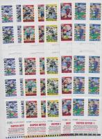 1999 Rugby válogatott 5 db bélyegfüzet Mi 1768-1777