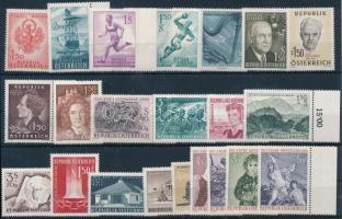 1959-1962 3 klf sor + 27 klf önálló érték 2 db stecklapon