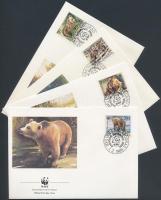 1988 WWF medvék sor Mi 2260-2263 4 FDC