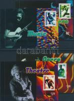 Performing Artists 7 stampbooklet sheets, Előadóművészek 7 db bélyegfüzetlap 4 db stecklapon