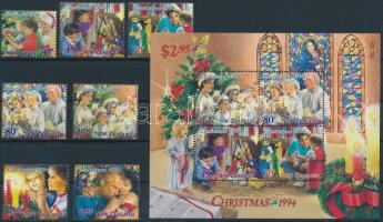 Christmas set + block, Karácsony sor + blokk