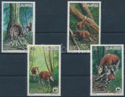 1984 WWF okapi sor Mi 875-878