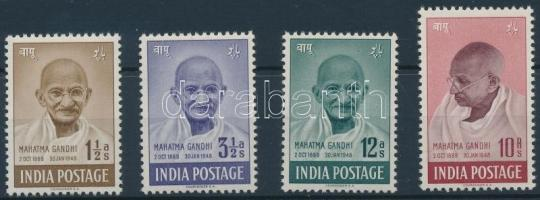 Gandhi set (Mi 190 pressed by the stockbook), Gandhi sor (Mi 190 -et a berakó csíkja megnyomta)