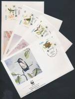 WWF hummingbird set on 4 FDC, WWF kolibri sor 4 FDC