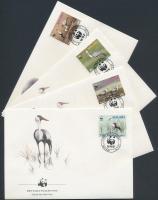 1987 WWF Darvak sor Mi 477-480 x 4 FDC