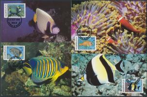 1986 WWF halak sor Mi 1198-1201 4 CM