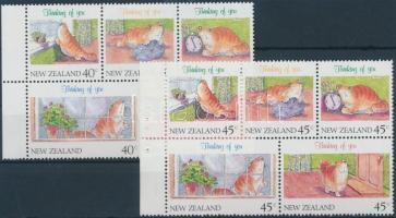 Üdvözlőbélyeg 2 klf bélyegfüzetlap, Greeting Stamp 2 diff stampbooklets
