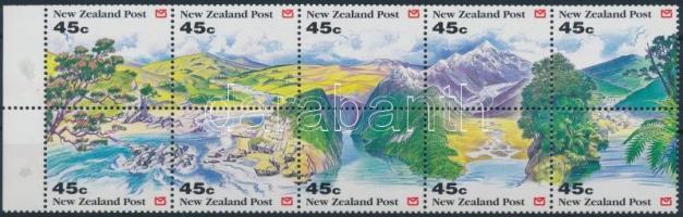 Landscapes stamp booklet sheet, Tájak bélyegfüzetlap