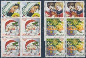 1999 Karácsony sor négyestömbökben Mi 1105-1008