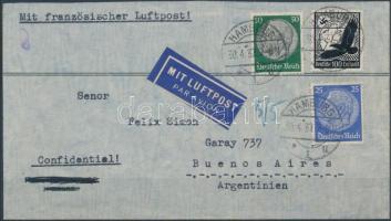 1937 Légi levél Argentínába