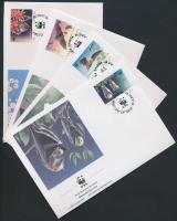 1993 WWF Denevérek sor Mi 754-757 4 FDC