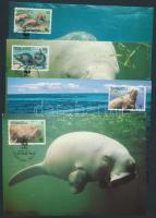 WWF dugong set on 4 CM, WWF dugong sor 4 CM