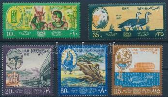 1967 A turizmus nemzetközi éve sor Mi 855-859